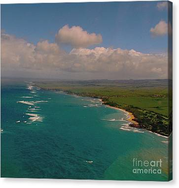 Canvas Print featuring the photograph Hawaii From Above by Louise Fahy