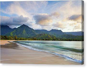 Hawaii Hanalei Dreams Canvas Print by Monica and Michael Sweet