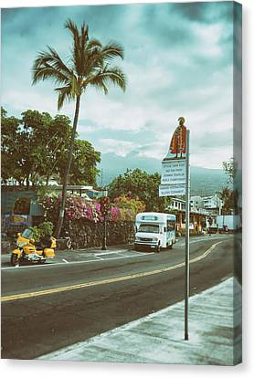 Hawaii Ironman Start Point  Canvas Print by Mary Lee Dereske