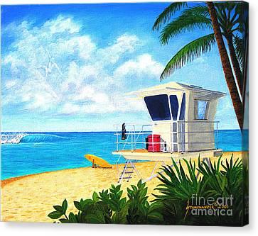 Hawaii North Shore Banzai Pipeline Canvas Print by Jerome Stumphauzer