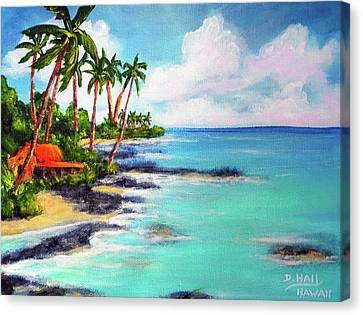 Hawaii North Shore Oahu #472 Canvas Print by Donald k Hall