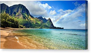 Michael Sweet Canvas Print - Hawaii Rainbow by Michael Sweet