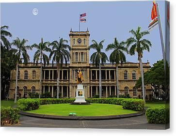 Aliiolani Canvas Print - Hawaii Supreme Court by Michael Rucker