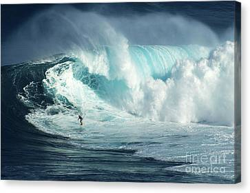 Hawaii Surfing Jaws 1 Canvas Print by Bob Christopher