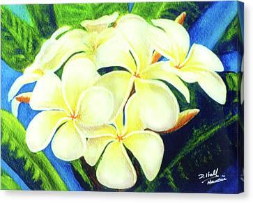 Hawaii Tropical Plumeria #158 Canvas Print by Donald k Hall
