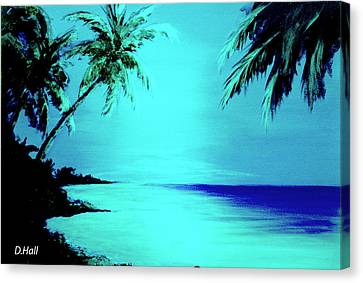 Hawaiian Beach Art Painting #188 Canvas Print by Donald k Hall