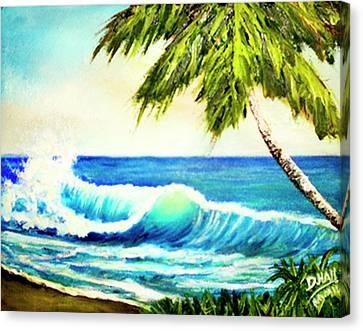 Hawaiian Beach Wave #420 Canvas Print by Donald k Hall