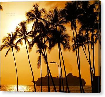 Hawaiian  Cruise Canvas Print by Athala Carole Bruckner