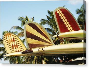 Hawaiian Design Surfboards Canvas Print by Vince Cavataio - Printscapes