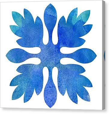 Hawaiian Ginger Quilt Ocean Canvas Print by Terrance Lum