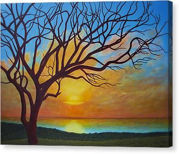 Hawaiian Hilltop Canvas Print by JP  McKim