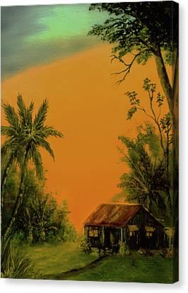Hawaiian Homestead Sunset #05 Canvas Print by Donald k Hall