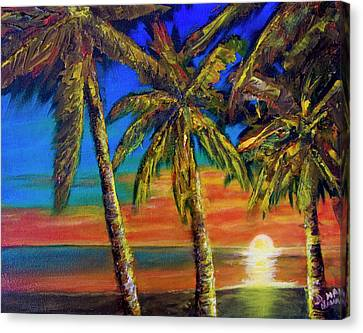 Hawaiian Moon #404 Canvas Print by Donald k Hall