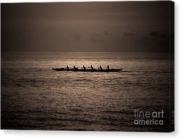 Canvas Print featuring the photograph Hawaiian Outrigger by Kelly Wade