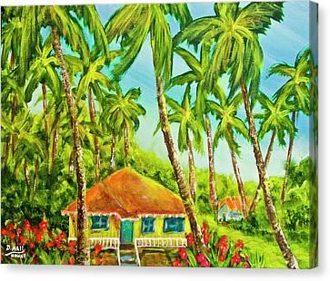 Hawaiian Plantation Home #390 Canvas Print by Donald k Hall
