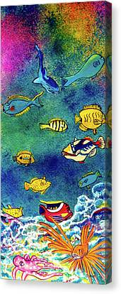 Hawaiian Reef  Fish #223 Canvas Print by Donald k Hall