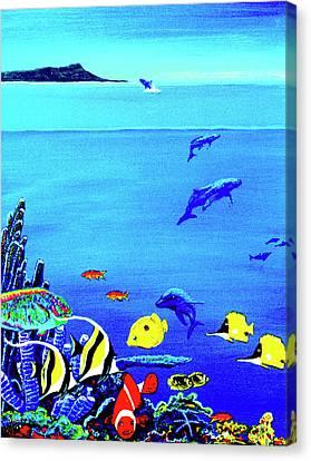 Hawaiian Reef Fish Nimo #193 Canvas Print by Donald k Hall