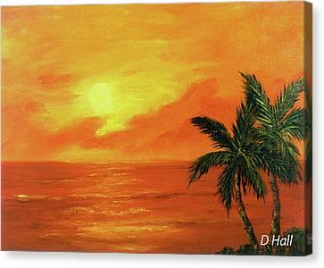 Hawaiian Sunset #27 Canvas Print by Donald k Hall