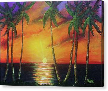 Hawaiian Sunset  #329 Canvas Print by Donald k Hall