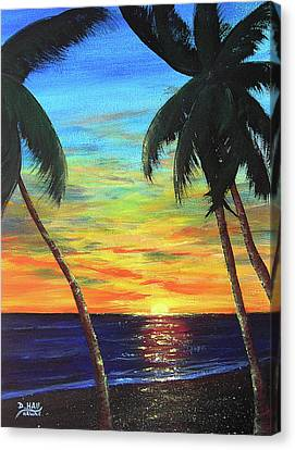 Hawaiian Sunset #340 Canvas Print by Donald k Hall