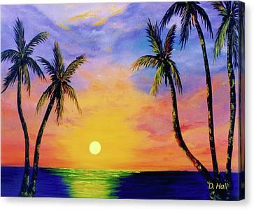 Hawaiian Sunset #36 Canvas Print by Donald k Hall