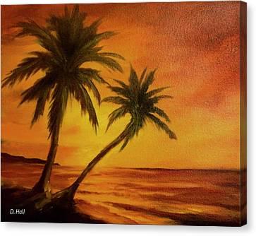 Hawaiian Sunset #380 Canvas Print by Donald k Hall
