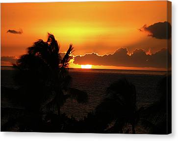 Canvas Print featuring the photograph Hawaiian Sunset by Anthony Jones