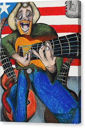 Hawaiian-texas-tunes Canvas Print by Billy Knows