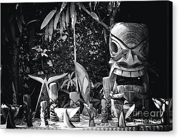 Canvas Print featuring the photograph Hawaiian Tiki Carvings by Sharon Mau