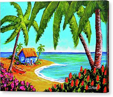 Hawaiian Tropical Beach  #364 Canvas Print by Donald k Hall