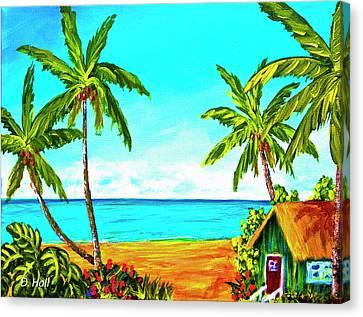 Hawaiian Tropical Beach #366  Canvas Print by Donald k Hall