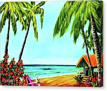 Hawaiian Tropical Beach #367  Canvas Print by Donald k Hall