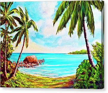 Hawaiian Tropical Beach #388 Canvas Print by Donald k Hall