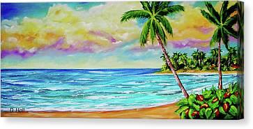 Hawaiian Tropical Beach #408 Canvas Print by Donald k Hall