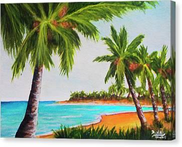 Hawaiian Tropical Beach #429 Canvas Print by Donald k Hall