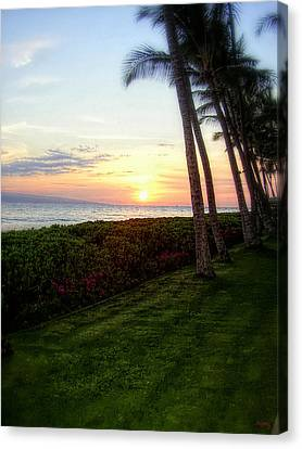 Hawaiian Tropical Sunset Canvas Print