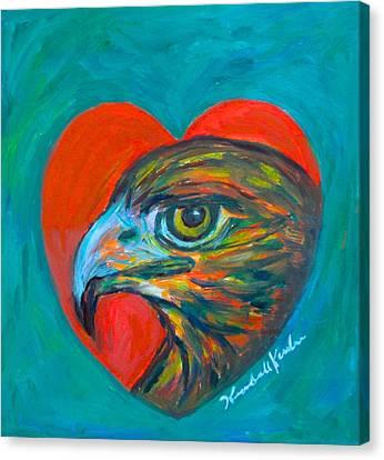 Hawk Heart Canvas Print by Kendall Kessler