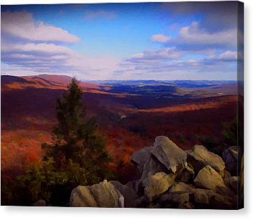 Canvas Print featuring the photograph Hawk Mountain Pennsylvania by David Dehner