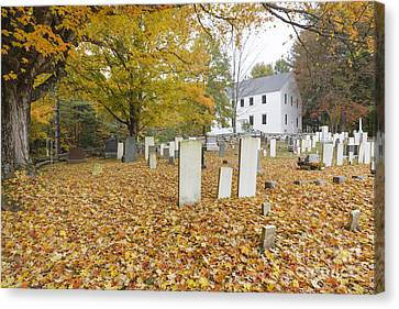 Hawke Meetinghouse - Danville New Hampshire Canvas Print by Erin Paul Donovan