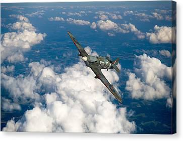 Hawker Hurricane IIb Of 174 Squadron Canvas Print by Gary Eason