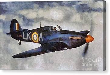 Hawker Hurricane, Wwii Canvas Print by Mary Bassett