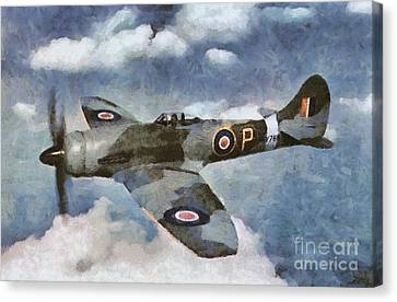 Hawker Tempest Canvas Print by Mary Bassett