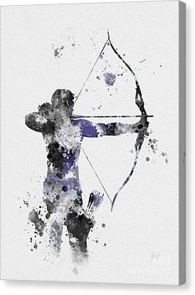 Hawkeye Canvas Print by Rebecca Jenkins