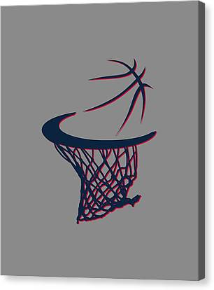 Hawks Basketball Hoop Canvas Print by Joe Hamilton