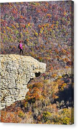 Hawksbill Crag In Autumn Canvas Print by Dennis Cox WorldViews