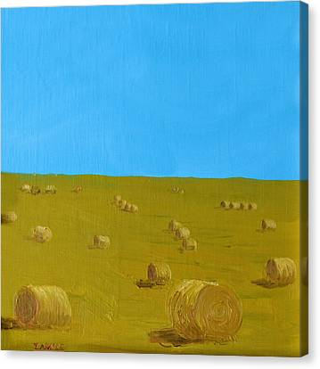 Hay Harvest Canvas Print