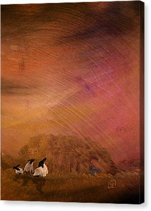 Canvas Print featuring the digital art Hay by Jean Moore
