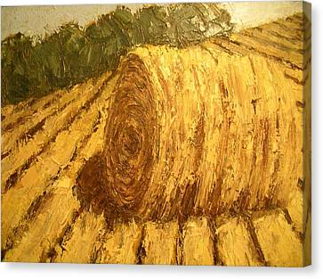 Haybale Hill Canvas Print