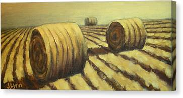 Haybales Canvas Print