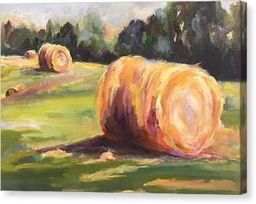 Hayfield Canvas Print by Donna Harmon